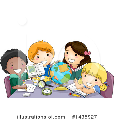 School Children Clipart #1435927 by BNP Design Studio