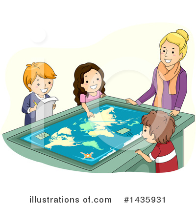 Map Clipart #1435931 by BNP Design Studio