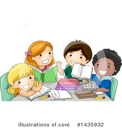 School Children Clipart #1435932 by BNP Design Studio