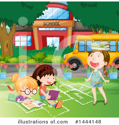 School Bus Clipart #1444148 by Graphics RF