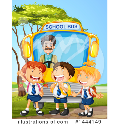 School Bus Clipart #1444149 by Graphics RF