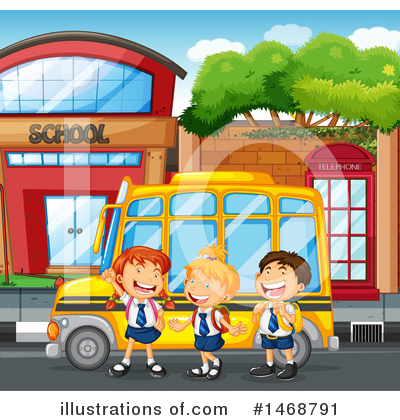 School Bus Clipart #1468791 by Graphics RF