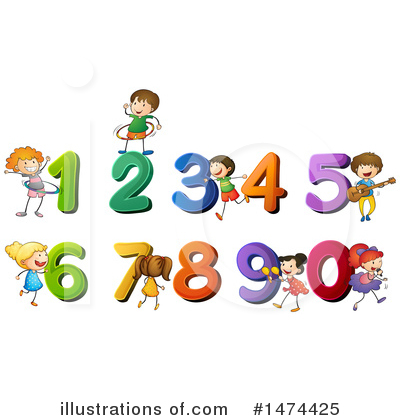 Royalty-Free (RF) School Children Clipart Illustration by Graphics RF - Stock Sample #1474425