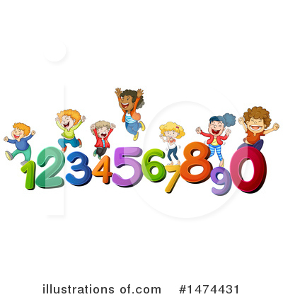 Royalty-Free (RF) School Children Clipart Illustration by Graphics RF - Stock Sample #1474431