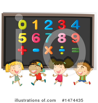 Royalty-Free (RF) School Children Clipart Illustration by Graphics RF - Stock Sample #1474435
