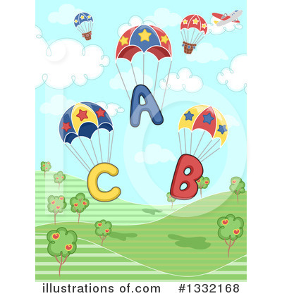 Parachute Clipart #1332168 by BNP Design Studio