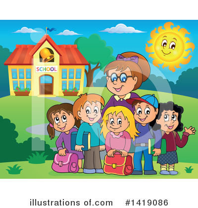 School Children Clipart #1419086 by visekart