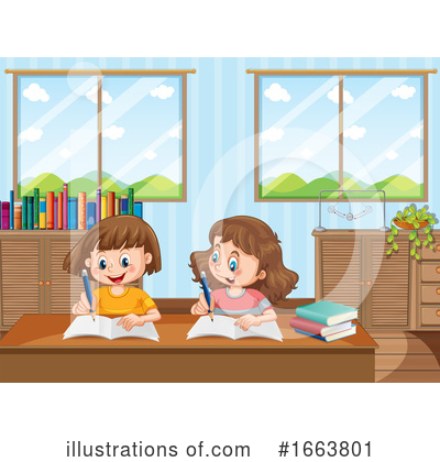 Royalty-Free (RF) School Clipart Illustration by Graphics RF - Stock Sample #1663801