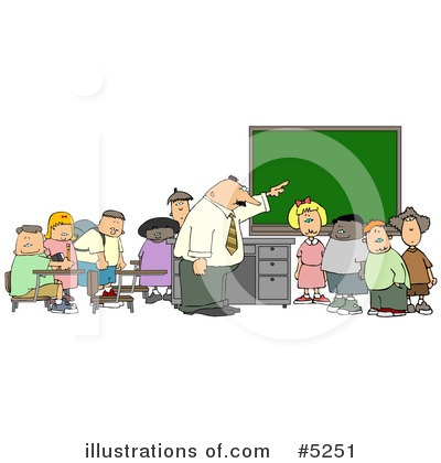 Royalty-Free (RF) School Clipart Illustration by djart - Stock Sample #5251