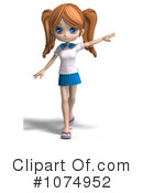 School Girl Clipart #1074952 by Ralf61