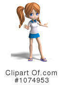 School Girl Clipart #1074953 by Ralf61