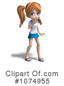 School Girl Clipart #1074955 by Ralf61