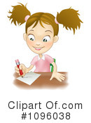 School Girl Clipart #1096038 by AtStockIllustration