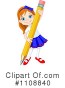 School Girl Clipart #1108840 by Pushkin