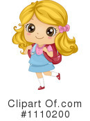 School Girl Clipart #1110200 by BNP Design Studio