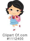 School Girl Clipart #1112400 by BNP Design Studio