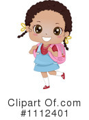 Royalty-Free (RF) School Girl Clipart Illustration #1112401