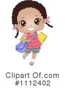 School Girl Clipart #1112402 by BNP Design Studio