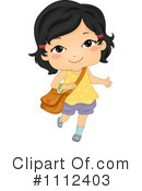 School Girl Clipart #1112403 by BNP Design Studio