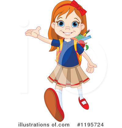 school girl clipart 1195724 illustration by pushkin