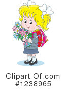 Royalty-Free (RF) School Girl Clipart Illustration #1238965