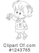 School Girl Clipart #1243765 by Alex Bannykh