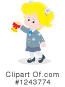 School Girl Clipart #1243774 by Alex Bannykh