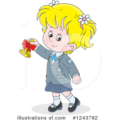 School Girl Clipart #1243782 by Alex Bannykh