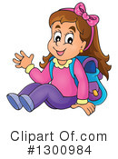 Royalty-Free (RF) School Girl Clipart Illustration #1300984
