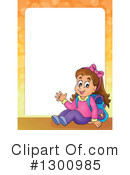 School Girl Clipart #1300985 by visekart