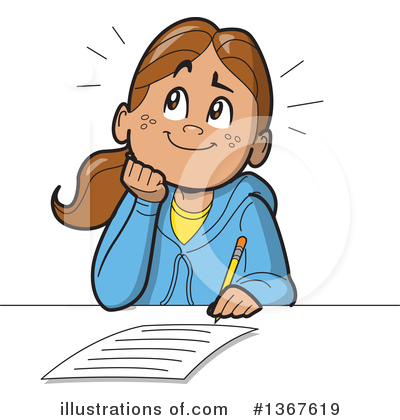 Daydreaming Clipart #1367619 by Clip Art Mascots