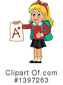 Royalty-Free (RF) School Girl Clipart Illustration #1397263