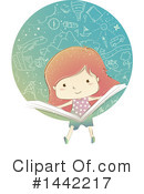School Girl Clipart #1442217 by BNP Design Studio