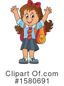 School Girl Clipart #1580691 by visekart