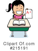 Royalty-Free (RF) School Girl Clipart Illustration #215191