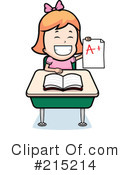 Royalty-Free (RF) School Girl Clipart Illustration #215214