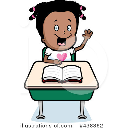 Royalty-Free (RF) School Girl Clipart Illustration by Cory Thoman - Stock Sample #438362