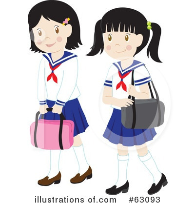 School Girls on School Girl Clipart  63093 By Rosie Piter   Royalty Free  Rf  Stock