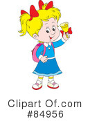 Royalty-Free (RF) School Girl Clipart Illustration #84956