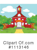 Royalty-Free (RF) School House Clipart Illustration #1113146