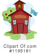 School House Clipart #1195181 by BNP Design Studio