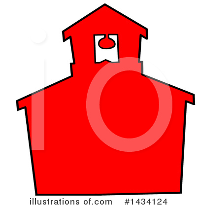 Royalty-Free (RF) School House Clipart Illustration by LaffToon - Stock Sample #1434124