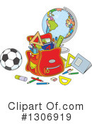 Royalty-Free (RF) School Supplies Clipart Illustration #1306919