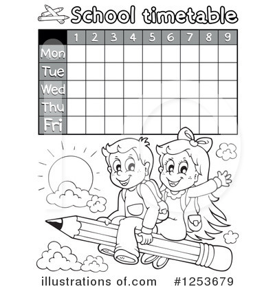 School Timetable Clipart #1253679 by visekart