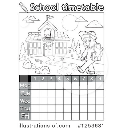 School Timetable Clipart #1253681 by visekart