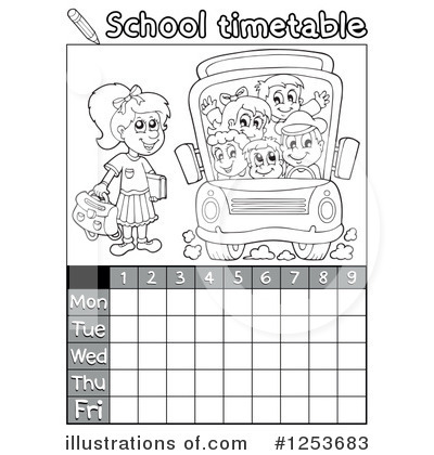 School Timetable Clipart #1253683 by visekart