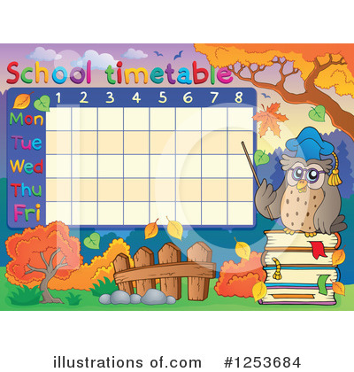 School Timetable Clipart #1253684 by visekart