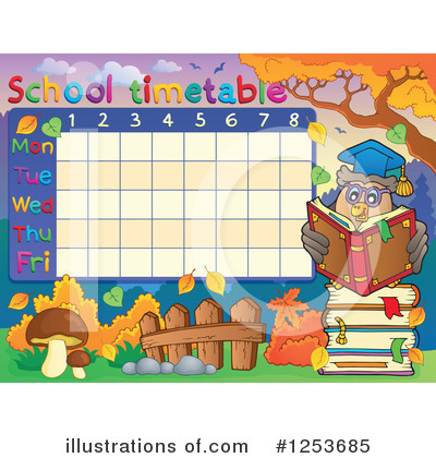 School Timetable Clipart #1253685 by visekart