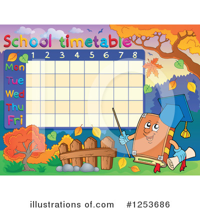 School Timetable Clipart #1253686 by visekart