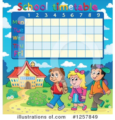School Timetable Clipart #1257849 by visekart